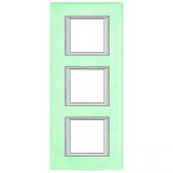Plaque rectangulaire Axolute Verre 2+2+2 modules vertical - Cristal
