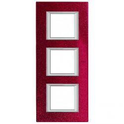 Plaque Axolute Rouge - 3 x 2 modules entraxe 71
