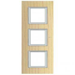 Plaque rectangulaire Axolute Bois 2+2+2 mod. vertical - Frêne
