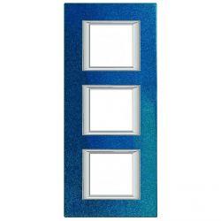 Plaque Axolute Bleu - 3 x 2 modules entraxe 71