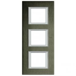 Plaque rectangulaire Axolute Aluminium anodisé 2+2+2 mod. vertical - Bronze