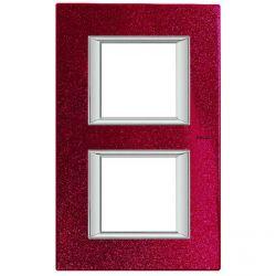 Plaque Axolute Rouge - 2 x 2 modules entraxe 71
