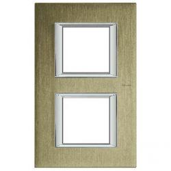 Plaque rectangulaire Axolute Aluminium brossé 2+2 mod. vertical - Titane