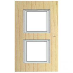 Plaque rectangulaire Axolute Bois 2+2 mod. vertical - Frêne