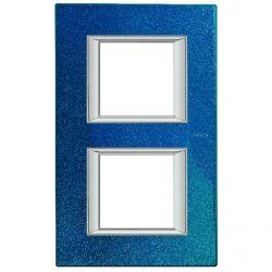 Plaque Axolute Bleu - 2 x 2 modules entraxe 71