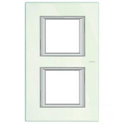 Plaque Axolute Blanc - 2 x 2 modules entraxe 71