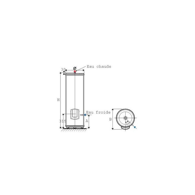chauffe eau atlantic zeneo 150l 154315. Black Bedroom Furniture Sets. Home Design Ideas