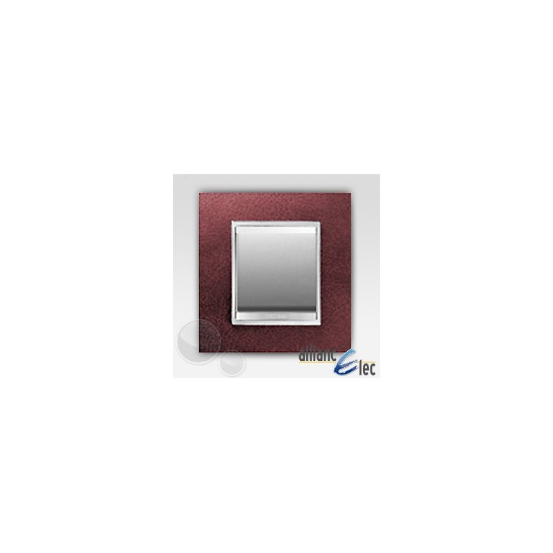 interrupteur 2 modules lux cuir rubissur titane complet. Black Bedroom Furniture Sets. Home Design Ideas