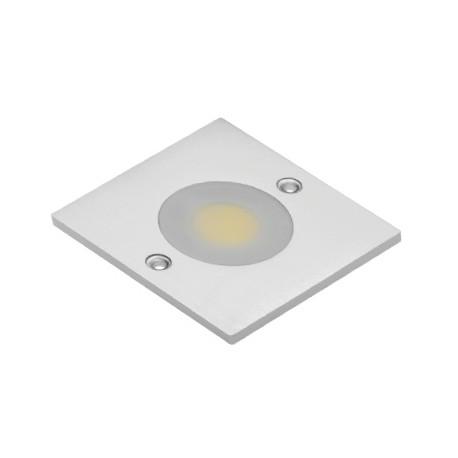 spot led cob carre blanc froid 1 diode led cob 3w 280lm 60x60x5. Black Bedroom Furniture Sets. Home Design Ideas