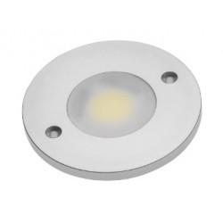SPOT LED COB ROND BLANC CHAUD 1 DIODE LED COB 3W 280LM 60x60x5MM CONNECTEUR MINI AMP