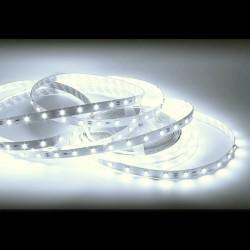 RUBAN LED SMD 3528, 5M, 120 LED/4,8W/ML - BLANC CHAUD, IP 20, AVEC 2 CONNECTEURS MINI AMP PRECABLES
