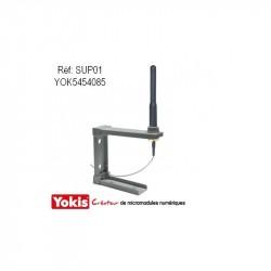 SUP01 Support Pour Antenne Fixation Horizontale ou Verticale Domotique Yokis