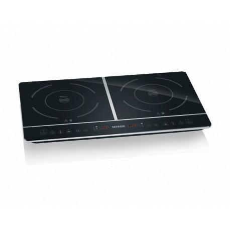 rechaud induction 2 plaques noir affichage digital facile nettoyer. Black Bedroom Furniture Sets. Home Design Ideas
