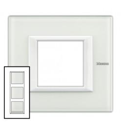 Plaque Axolute Verre blanc - 3 x 2 modules entraxe 57
