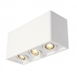 PLASTRA BOX 3 PLAFONNIER, CARRE, PLATRE BLANC, 3X GU10 , MAX