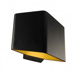 Cariso 1. applique. noir/laiton. led 7.6w. 3000k