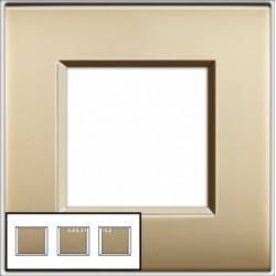 Plaque Livinglight Air Brillant 2+2+2 modules entraxe 71 mm - Or mat
