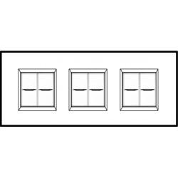 Plaque Livinglight Air Brillant 2+2+2 modules entraxe 71 mm - Or palladium