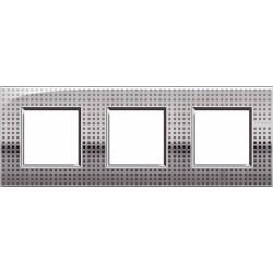 Plaque Livinglight Air Décor 2+2+2 modules entraxe 71 mm - Net