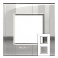 Plaque Livinglight Air Décor 2+2 modules entraxe 71 mm - Rayé