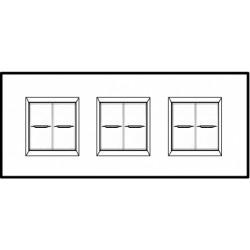 Plaque Livinglight Air Neutre 2+2+2 modules entraxe 71 mm - Blanc pur