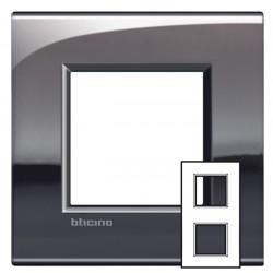 Plaque Livinglight Air Brillant 2+2 modules entraxe 71 mm - Étain