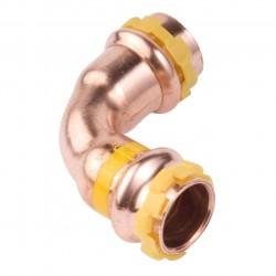 Comap coude 45° à sertir sudo press cuivre gaz