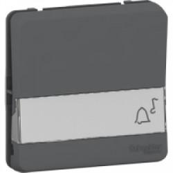 Bouton poussoir porte-étiquette gris Schneider Mureva Styl