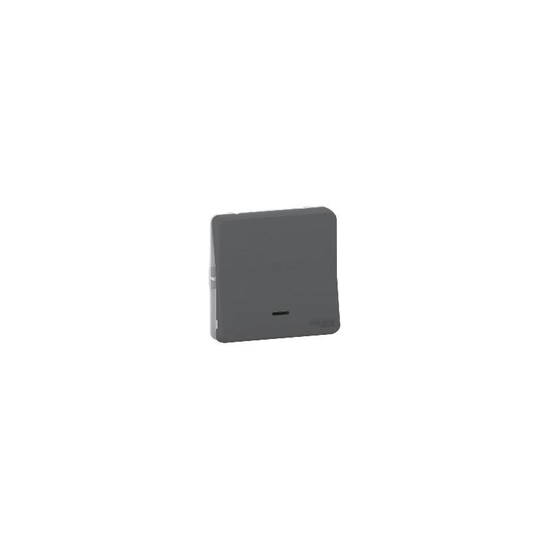 bouton poussoir led mureva styl gris tanche p55 mur35127. Black Bedroom Furniture Sets. Home Design Ideas