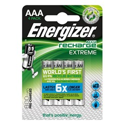 Piles rechargeables AAA 800mAh - NH12 ENERGIZER EXTREME - Lot de 4