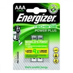 Piles rechargeables AAA 700 mA ENERGIZER POWER PLUS - Lot de 2