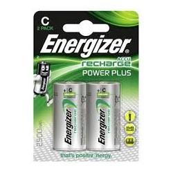 Piles rechargeables 2500mAh ENERGIZER PowerPlus C - Lot de 2