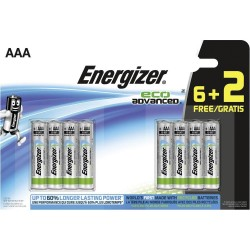 Pile AAA FSB8 ENERGIZER eco advanced 6+2