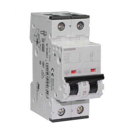 disjoncteur lectrique 20a modules 2 pouvoir de coupure 6ka 230v. Black Bedroom Furniture Sets. Home Design Ideas