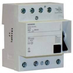Interrupteur différentiel Siemens tétrapolaire 40A 30mA type