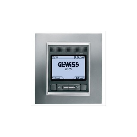 Panneau de controle Gewiss easy system domotique knx blanc