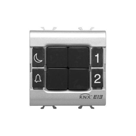 Clavier de commande 4 canaux Gewiss easy system domotique knx blanc
