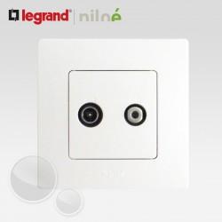 Prise TV SAT blindée Legrand Niloe Pur Blanc