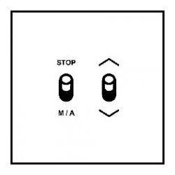 Art d'Arnould - Epure - Commande de volets roulants 3 positions - Blanc satin