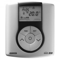 Thermostat Gewiss easy system domotique knx titane