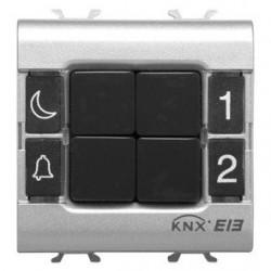Clavier de commande 4 canaux blanc Gewiss master system knx domotique