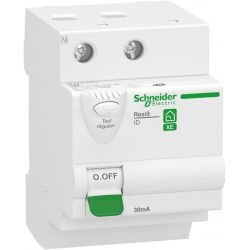 interrupteur différentiel 2P 63A 30mA Type AC embrochable SCHNEIDER Resi9 XE 3 modules