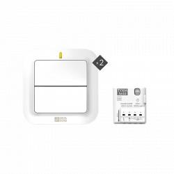 Pack TYXIA 611 Va-et-vient éclairage (1 récepteur + 2 interrupteurs radio)