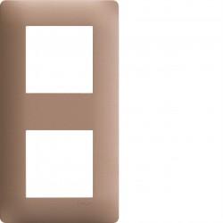 essensya Plaque 2 postes entr. 57 Bronze