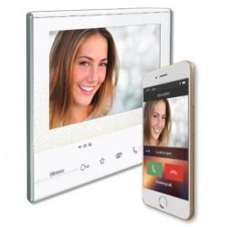 "Portier video - Classe 300 X13E moniteur 7"" wifi-3/4G blanc / Bticino"