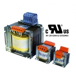 Transfo MONO Multitensions 100VA IP00 2x115V