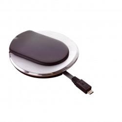 Point de connexion Logix prise 2P+T + chargeur USB Téléphone - Blanc / Planet Wattohm