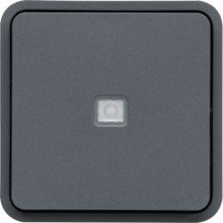 cubyko bouton poussoir 1O/1F lumineux assoc. gris