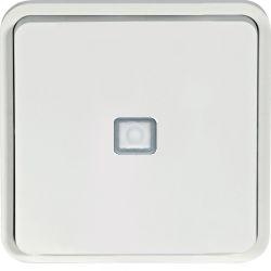 cubyko bouton poussoir 1O/1F lumineux assoc. blanc