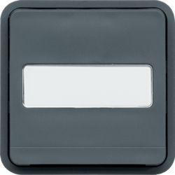 cubyko bouton poussoir porte-étiquette 1F assoc. gris